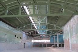 окраска бетона, плиты покрытия и фермы до очистки и окраски